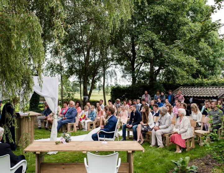 Bruiloft Erik & Janita | Buiten ceremonie
